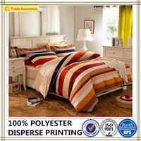 classic stripe bedding sets 100% polyester brushed fabric bed sheet set