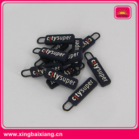 colorful rubber zipper puller/silicon zipper slider