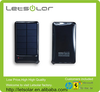 4000mAh usb portable solar charger with built in usb able solar power bank battery pack mobile phone power supply
