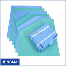 Medical Wrap of Autoclave Sterilizer Wood Pulp Crepe Paper Sheet Surgical Wrap Hospital Dressing Packs
