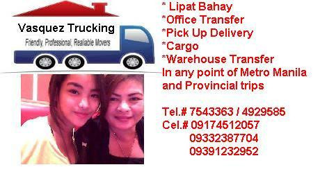 VASQUEZ LIPAT BAHAY AND TRUCKING SERVICES
