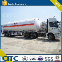 2015 china new compressed natural gas transport semi trailer / lpg gas truck trailer for sale