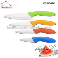 Homesen european 4pcs colored ceramic knife set