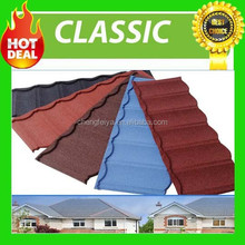 wholesale colorful kerala stone coated metal roof tile