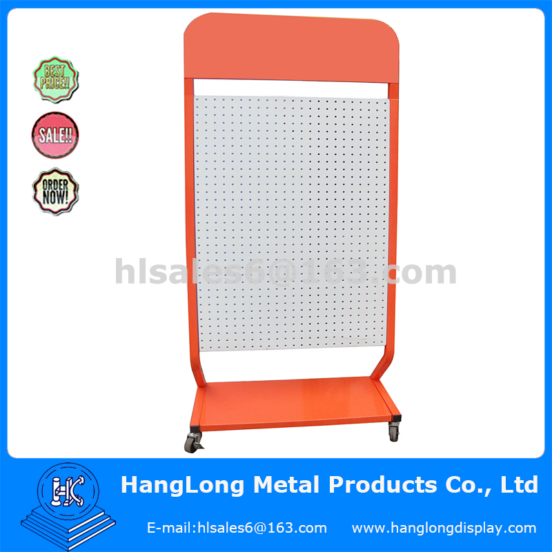 Metal material pegboard display stand for mobile accessories