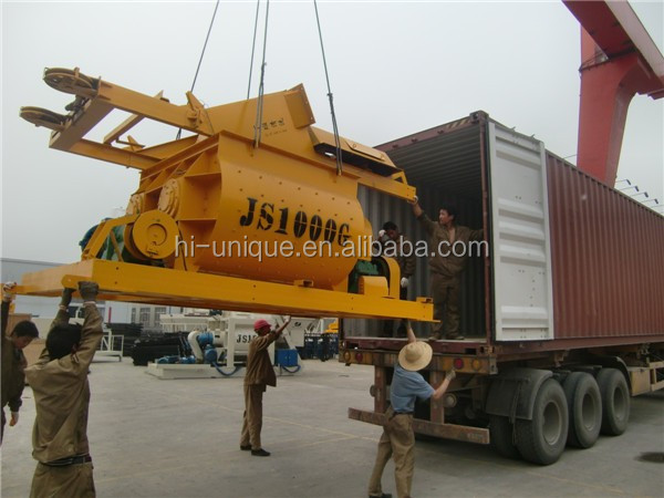 High Output JS1000 Twin Shaft Concrete Mixer Machine