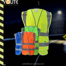 2016 four colors reflective working vest/safety working jacket for men