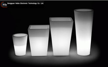 artificial flower led planter tall floor planter/outdoor led luminous planter pots/tall plastic flower planters