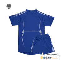 Custom Children Football Navy Clothing High Quality soccer uniforms for kids