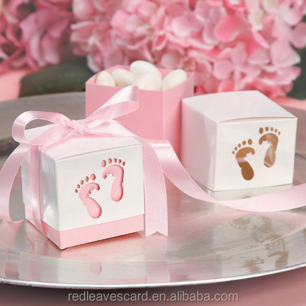 Custome Design Baby Shower gift box set chocolate window candy boxes