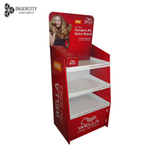 Heavy duty powerful cardboard corrugated display stand CMYK paper board counter display shelf