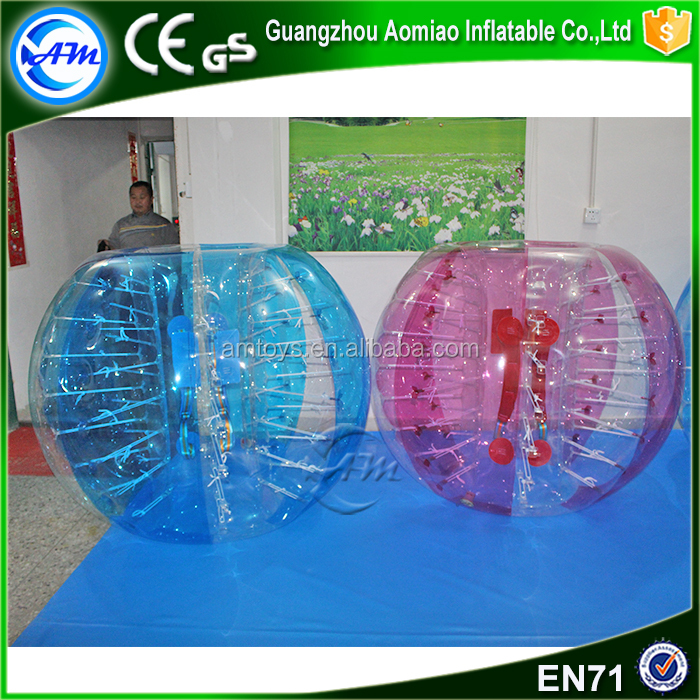 2017 Top quality 0.8mm pvc inflatable bubble football giant body bubble ball