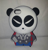 Custom lovely 3d cartoon phone case, silicone phone cover