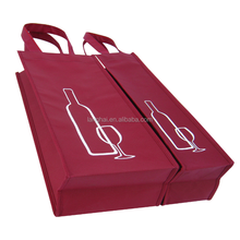 Durable Eco-friendly High Quality Non-woven Bags for Wine Bottles/High End Wholesale Alibaba Best Seller Non-woven Bags for Wine
