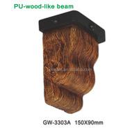 Home Decoration Pu Faux Wood Corbel Molding