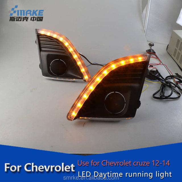 Car Specific LED DRL for Chevrolet cruze fog lamp,LED daytime running light for cruze drl front driving lamp 2012-2014