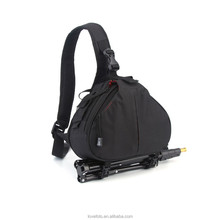 Stylish DSLR Camera Bag Case Shoulder Triangle Bag with Rain Cover for Canon Nikon Pentax DSLR