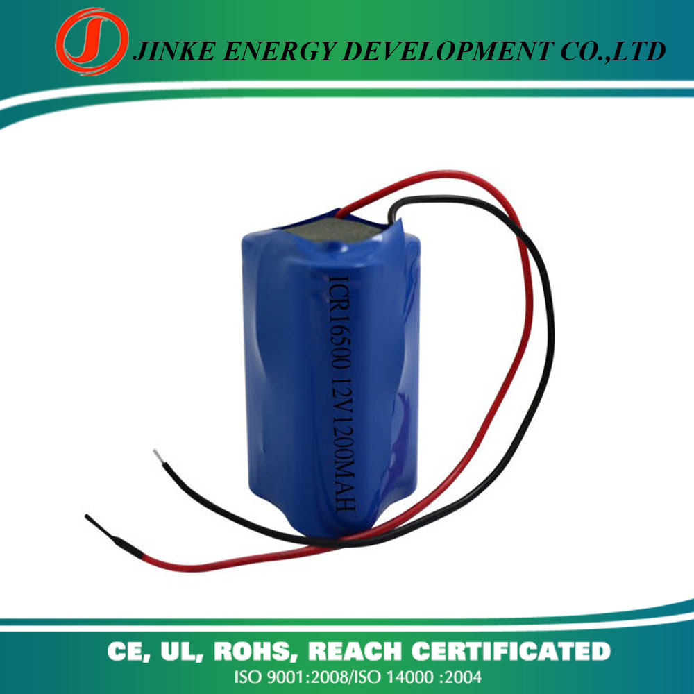 RC CAR rechargeable battery 12v Lithium ion 16500 battery pack 12v 1200mah battery for smoke fire alarm heated suit