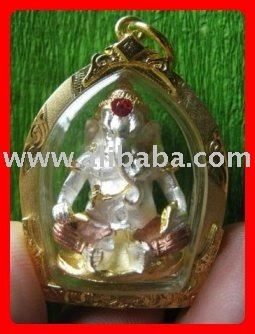 OM GANESH GOD Thai Buddha AMULET LIFE PROTECTION POWER