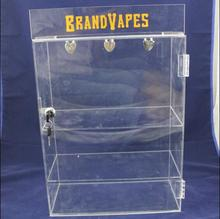 Clear Acrylic E Cig Bottle Display Stand With LOGO