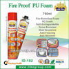 fire rated Professional PU foam ,urethane foam