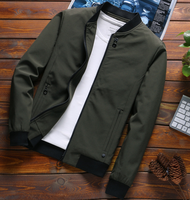 ZY1948A spring fashion high quality zipper men army jacket