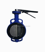Good price dn200 wafer type stainless steel api 6d butterfly valve with bare shaft