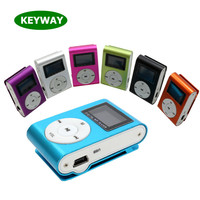 Promotion Gift Mini Portable Aluminum Clip MP3 LCD Screen With Card Slot MP3 Player For Running
