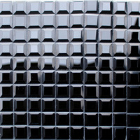 China(Mainland) black 3*3cm tile glass mosaic