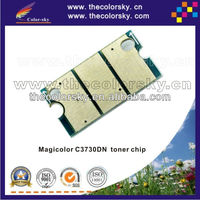 (TY-KMC3730t) toner cartridge reset chip chipset for Konica Minolta Magicolor C3730dn C3730 C 3730dn 3730 AOWGO1N A0WG02 kcmy