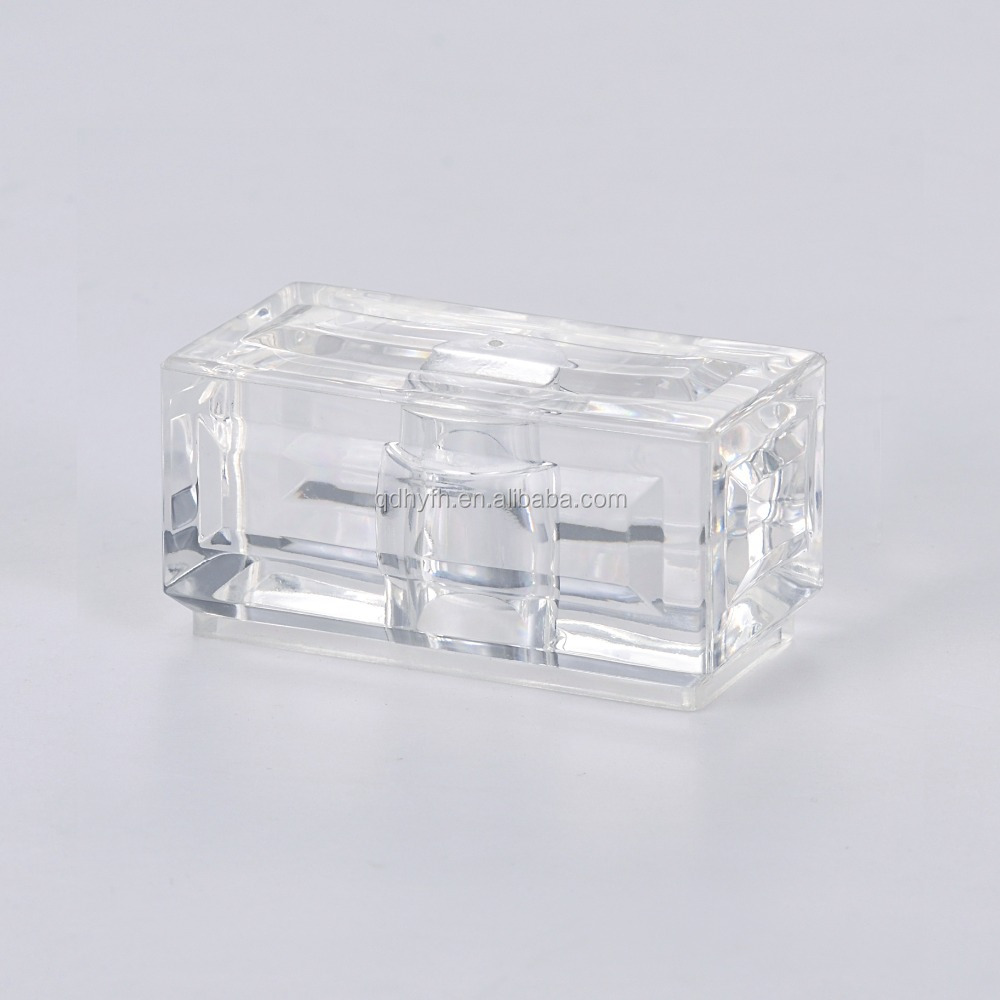 Crystal Acrylic Perfume Bottle Cap with Square Shape with Fashion Style