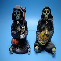 resin skull figurine crafts for halloween decoration, halloween gifts