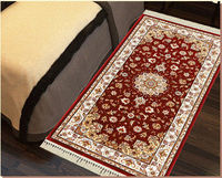 polypropylene machine made viscose silk persian rug