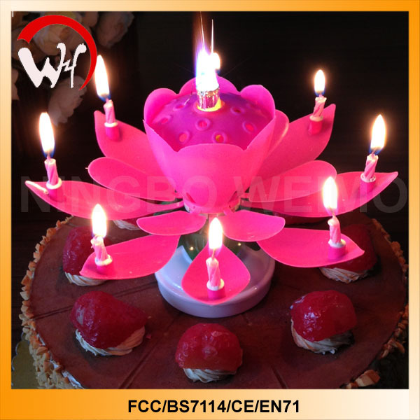 Opening Flower Candle Amazing Flower Music Candle