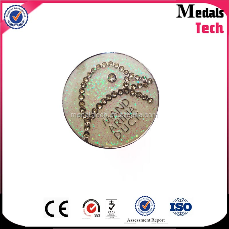 Top design hot sale custom metal gilitter finished carrom coins