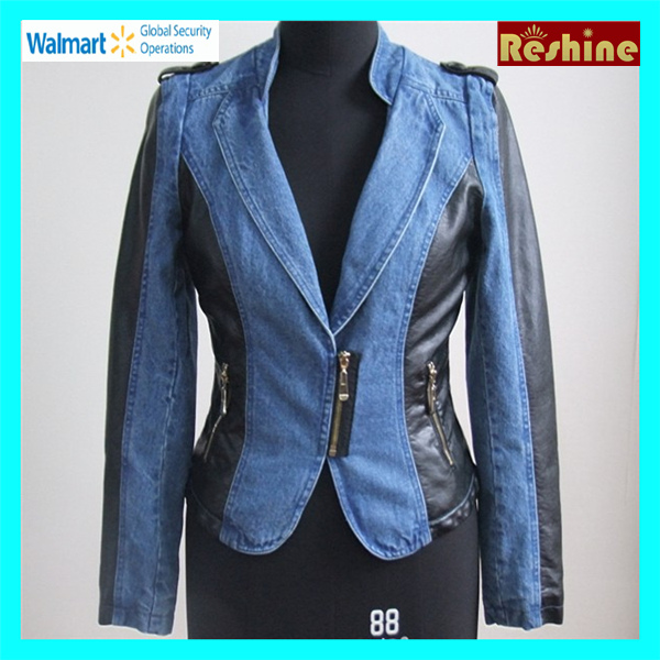 women jean leather Jacket