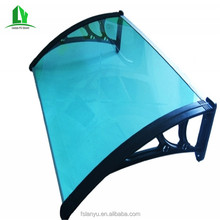 Lanyu polycarbonate front glass door canopy
