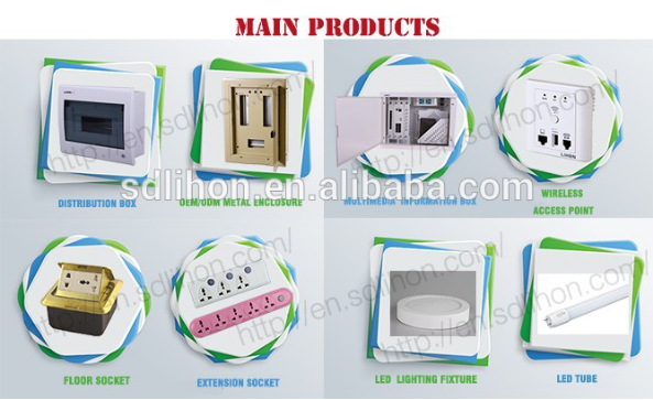 230*180* 80mm indoor square decortive fiber optic multimedia information box