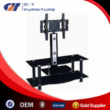 Tempered glass lcd TV Stand desingn cabinet entertainment