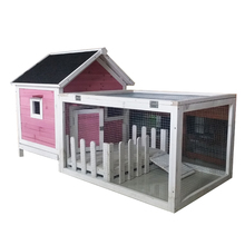 Wooden used rabbit cages for sale with run