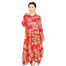 Cotton Printed Fabric Long Summer Dress For Women