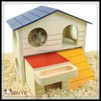 Portable wooden hamster cage wooden hamster house/toy