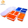 3 Compartments Collapsible Silicone Food Containers Lunch Box For School