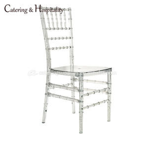 Wholesale Cheap wedding furniture used Resin Acrylic Transparent Resin plastic Tiffany chiavari wedding chairs silla for sale