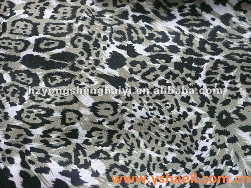 100% Polyester Oxford Cloth with Leopard Print Fabric