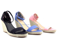 Rubber China Knitwear 2016 Trendy Wedge Heel Women Shoes With Diamond