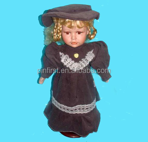 Lord Lady Lovely Baby Doll With Black Clothes and Hat