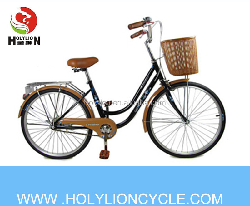 24 inch city bike and steel frame and fork for lady