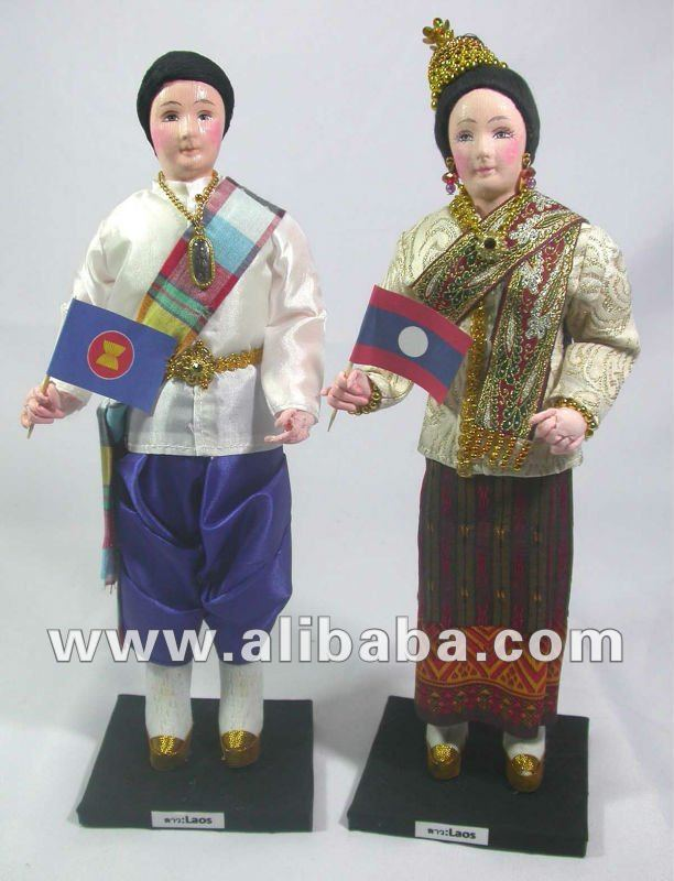 Laos Dolls in Traditional Costume