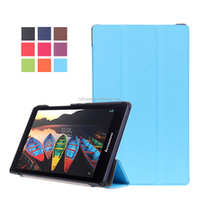 factory price flip PU leather cover case for Lenovo Tab3 8.0 inch 850F with auto sleep